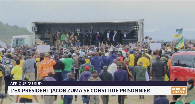 Afrique du Sud: Jacob Zuma se constitue prisonnier