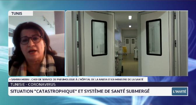 """Tunisie-Coronavirus: situation """"catastrophique"""" et système de santé submergé"""
