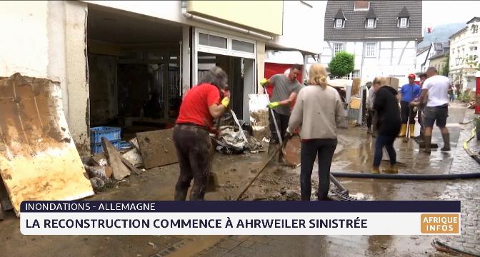 Inondations en Allemagne: à Ahrweiler sinistrée, la reconstruction commence