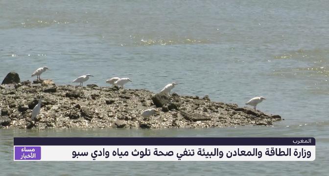 وزارة الطاقة والمعادن والبيئة تنفي صحة تلوث مياه وادي سبو