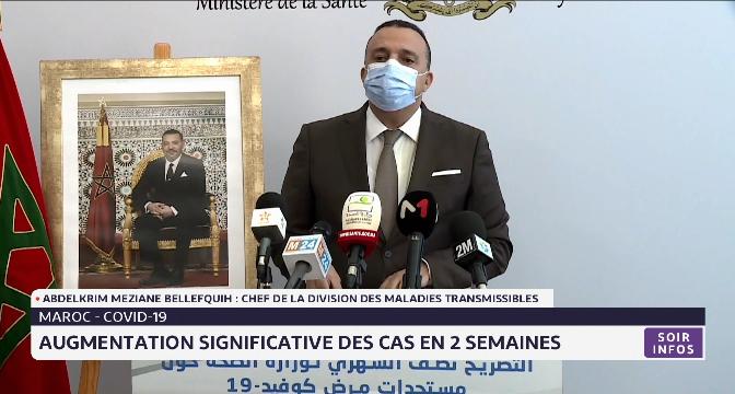 Covid-19: augmentation significative des cas positifs au Maroc en 2 semaines