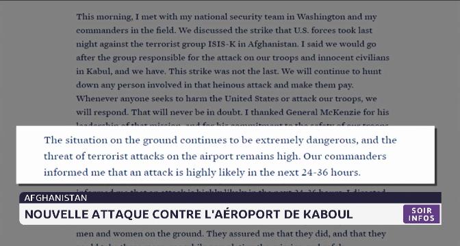Afghanistan: nouvelle attaque contre l'aéroport de Kaboul