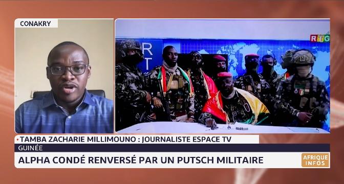 Guinée: Alpha Condé renversé par un putsch militaire