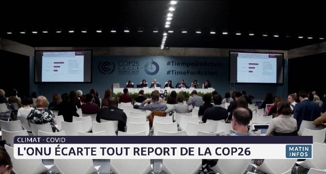 Climat: L'ONU écarte tout report de la COP26