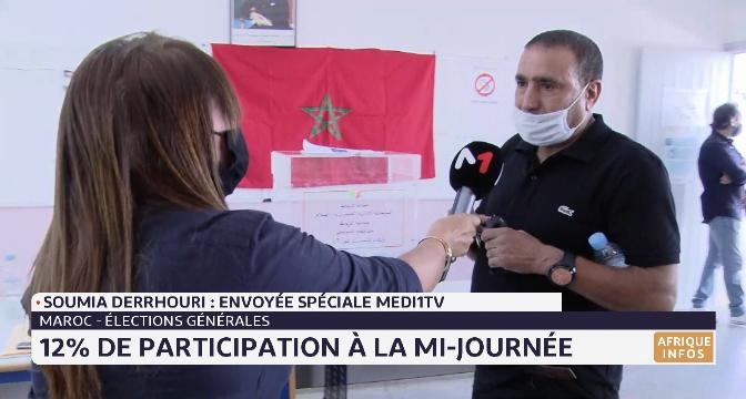 Maroc- élections générales: 12% de participation à la mi-journée