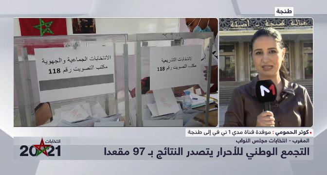 كوثر حمومي تقدم نتائج الانتخابات بجهة طنجة تطوان الحسيمة