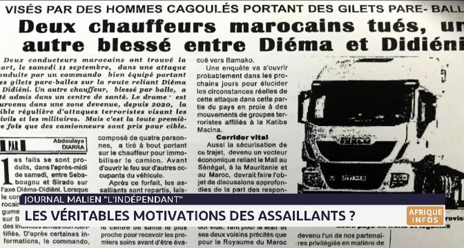 Journal malien l'Indépendant: quelles sont les véritables motivations des assaillants ?