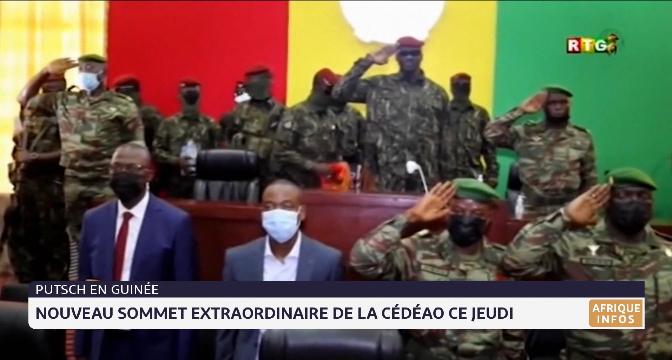 Putsch en Guinée: nouveau sommet extraordinaire de la CEDEAO ce jeudi