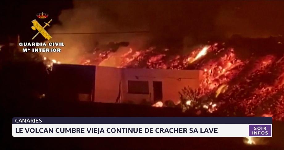 Canaries: le volcan Cumbre Vieja continue de cracher sa lav