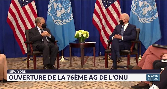 New York: ouverture de la 76ème AG de l'ONU