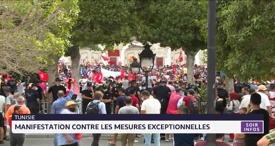 Tunisie: manifestation contre les mesures exceptionnelles