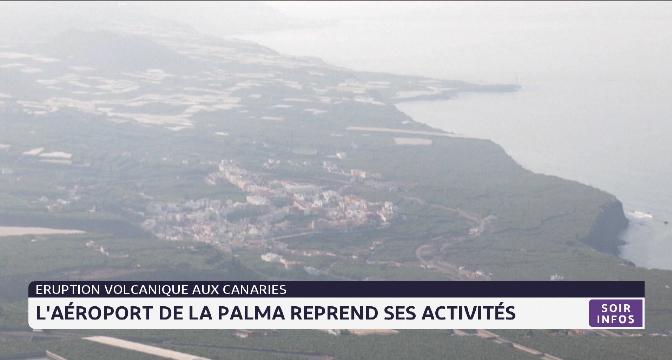 Éruption volcanique aux Canaries: l'aéroport de La Palma reprend ses activités