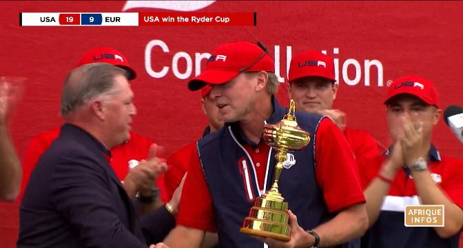 Golf: les Américains remportent la Ryder Cup pour la 27e fois