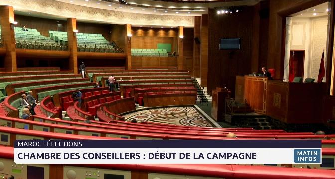 Chambre des conseillers : début de la campagne