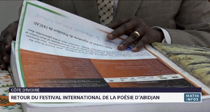 Retour du festival international de la poésie d'Abidjan