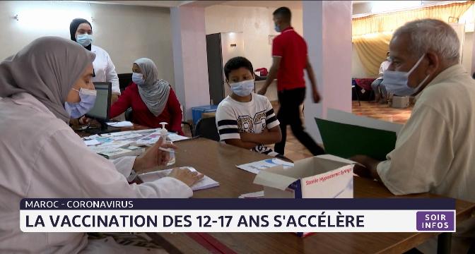 Covid-19 au Maroc la vaccination des 12-17 ans s'accélère