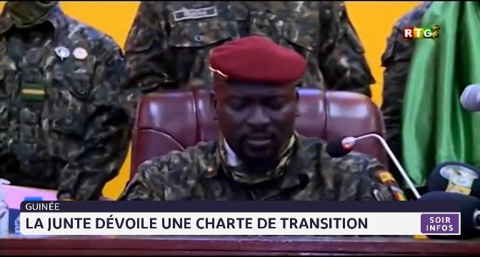 Guinée: la junte dévoile une charte de transition