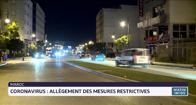 Covid-19: allègement des mesures restrictives au Maroc