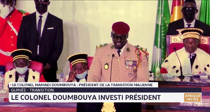 Guinée: le colonel Doumbouya investi président de la transition