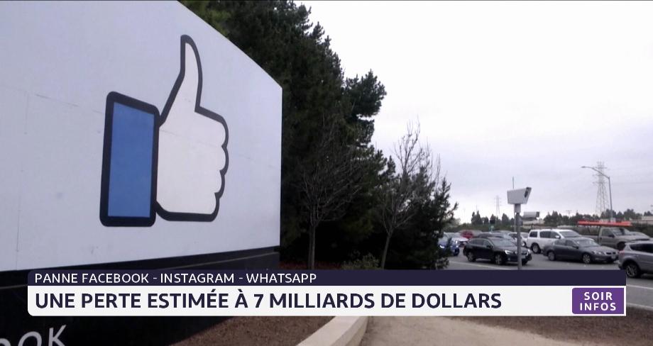 Panne Facebook: une perte estimée à 7 milliards de dollars
