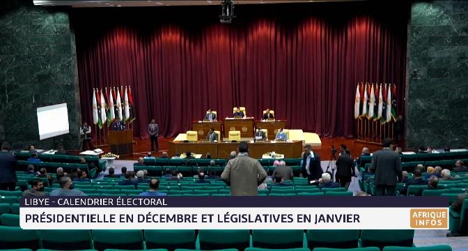 Libye: présidentielle en décembre et législatives en janvier