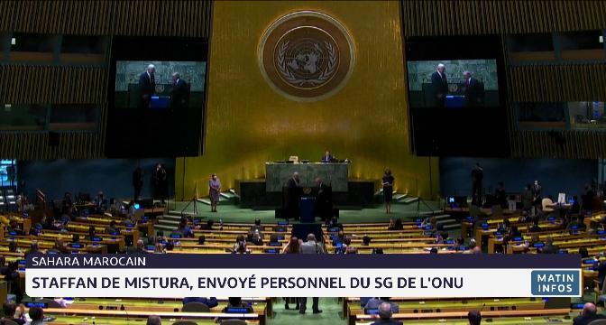 Staffan de Mistura, envoyé personnel du SG de l'ONU au Sahara marocain
