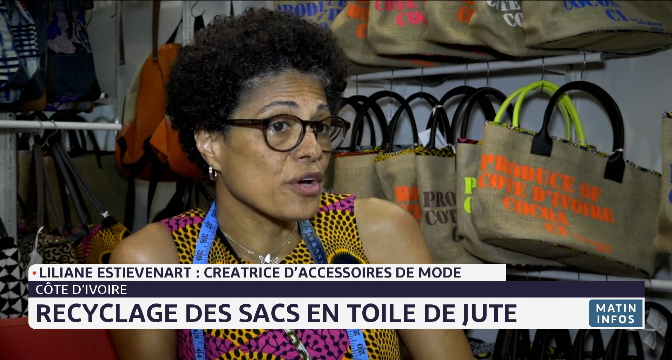 Côte d'Ivoire: recyclage des sacs en toile de jute