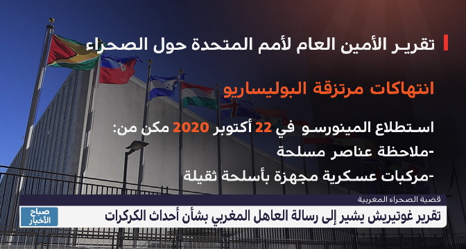 تقرير غوتيريش يشير إلى رسالة العاهل المغربي بشأن أحداث الكركرات