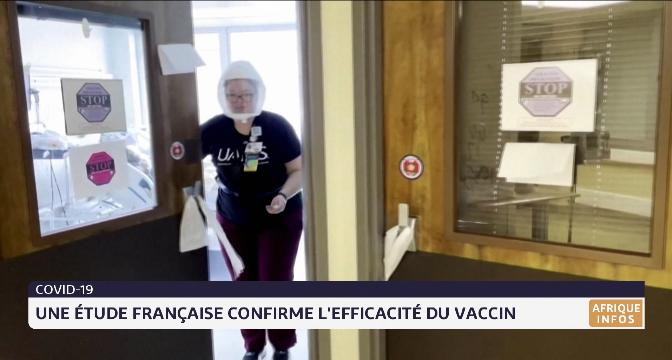 Covid-19: une étude française confirme l'efficacité du vaccin