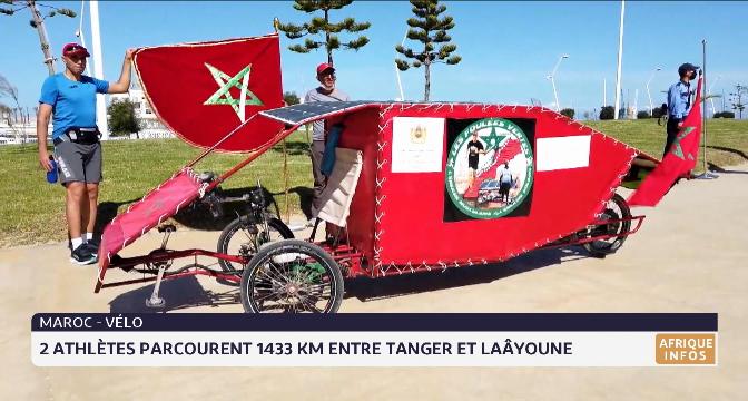 Maroc-vélo: 2 athlètes parcourent 1433 km entre Tanger et Laâyoune