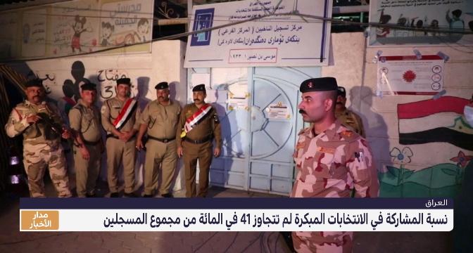 العراق  .. الانتخابات المبكرة عرفت عزوفا كبيرا للناخبين