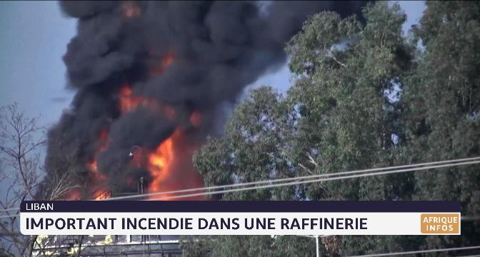 Liban: Important incendie dans une raffinerie pétrolière