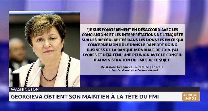 Washington: Georgieva obtient son maintient à la tête du FMI
