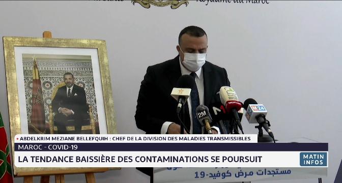 Coronavirus au Maroc: la tendance baissière des contaminations se poursuit