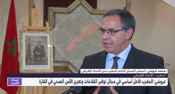 عروشي: المغرب فاعل أساسي في مجال توفير اللقاحات وتعزيز الأمن الصحي في القارة