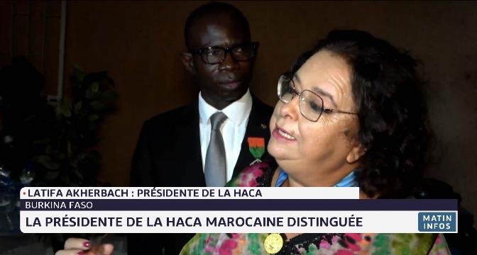 Burkina Faso: la présidente de la HACA marocaine distinguée