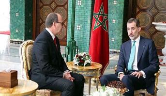 """الملك """"ضون"""" فيليبي السادس يستقبل رئيس مجلس المستشارين"""