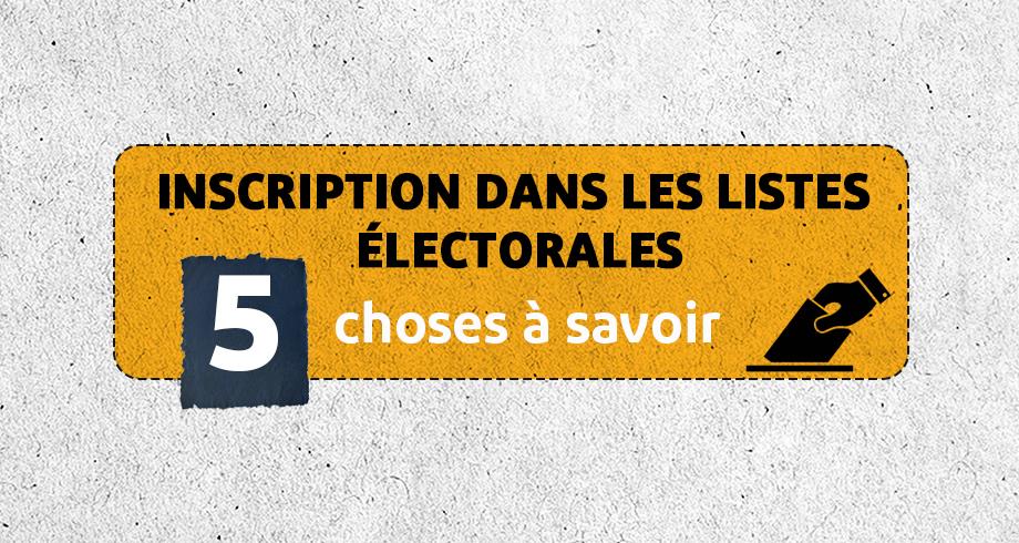 Listes électorales au Maroc: 5 choses à savoir sur les inscriptions
