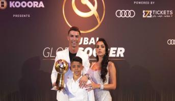 """رونالدو يحصد جائزة """"جلوب سوكر"""" لافضل لاعب عام 2019"""