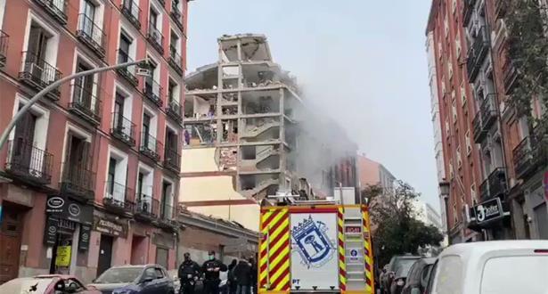 الانفجار في وسط مدريد ناجم عن الغاز بحسب رئيس بلدية المدينة