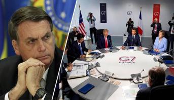 """حرائق الأمازون ..البرازيل تقول """"لا"""" لمجموعة السبع"""