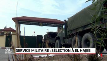 Service militaire: opération de sélection et d'incorporation des appelés à la base militaire d'El Hajeb