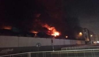 حريق مهول بمستودع لحافلات النقل الحضري يخلف خسائر مادية في الدار البيضاء