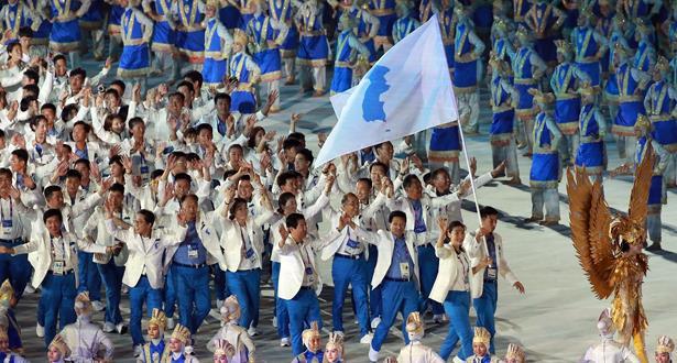الكوريتان تدخلان الألعاب الآسيوية في جاكارتا معا للمرة الـ 11 في التاريخ
