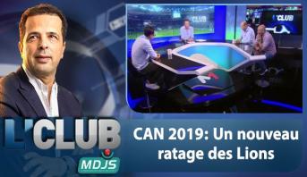 L'CLUB > CAN 2019: Un nouveau ratage des Lions