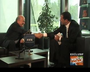 الماتش > L'Match avec Joseph Blatter, le Président de la FIFA
