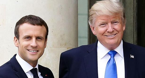 """ماكرون يقنع ترامب بـ""""البقاء لمدة طويلة"""" في سوريا"""