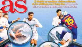 """""""الكلاسيكو"""" .. صحف مدريد غاضبة والنادي الملكي يختار التصعيد"""