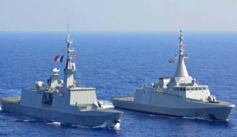 تدريب عسكري بحري فرنسي مصري بالبحر المتوسط