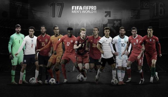 """جوائز """"فيفا"""" .. التشكيلة المثالية لأفضل 11 لاعبا خلال 2020"""